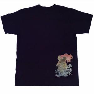 和柄むかしむかしTシャツ 菊登鯉