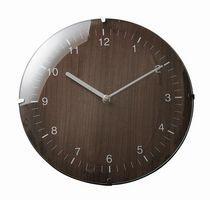 【送料無料】文字盤が木目のシンプルな壁掛け時計★シンプルウォールクロック★ブラウン