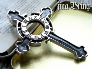 【送料無料】 特大のシルバーペンダント ■ギリシャ時計BIGクロス■SVシルバー925PD