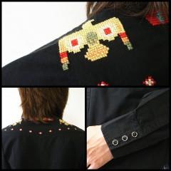 ゴーウエスト パンチングSK 刺繍ウエスタンシャツ [アメカジ・サロン系・ストカジ] (GO WEST)