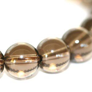 【メール便 送料無料】【開運】スモーキークォーツ 8mm玉 パワーストーン【煙水晶/8ミリ/天然石数珠ブレスレット】 ┃