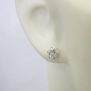 0.3ct一粒タイプのプラチナ900ダイヤモンドピアス
