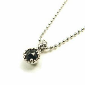 天然ダイヤモンド0.07ctローズカットブラックダイヤプラチナコーティングネックレス鑑別カード付き 送料無料