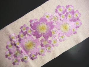 振袖成人式&袴・着物に♪ぎっしり刺繍半衿薄ピンク地桜桜