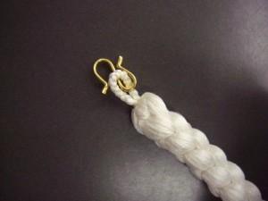 粋なメンズ男物男性礼装用丸組み正絹羽織紐(はおりひも)白色 和装着物小物
