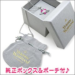 VivienneWestwood ヴィヴィアンウエストウッド ネックレス ディアマンテハートペンダント 0731-01-20 ピンク×シルバー☆送料無料