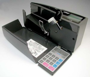 紙幣計数機◇ハンディカウンター(マネーカウンター)◆ラクシー*紙幣計算・商品券・図書券・封筒・はがきなども計数できます