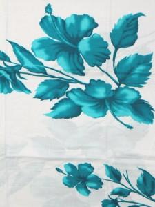 パレオ 水着 白生地にハイビスカス p-025 【5カラー/水着とコーディネート/大判花柄/】【WT-P】 ┃