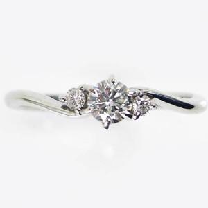 0.37ctダイヤモンド 3ダイヤの輝きプラチナ900リング