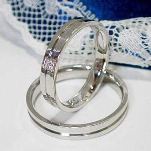 【ペア価格:結婚指輪】ダイヤモンド有り無しK18WG ホワイトゴールド マリッジ ペアリング