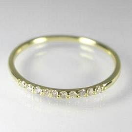 ハーフエタニティリング イエローゴールド K10ピンクゴールド ホワイトゴールド/0.1ctダイヤモンドリング:送料無料