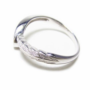 K18WG*ホワイトゴールド天然ダイヤモンド0.1ctエンジェルウィングリング 送料無料