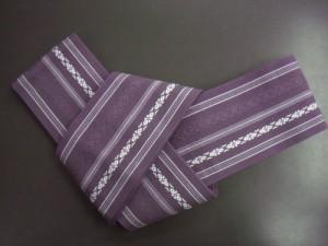 粋なメンズ男物男性角帯献上柄紫色 浴衣&着物に