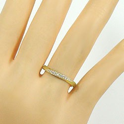 ペアリング 結婚指輪 マリッジリング ダイヤモンド イエローゴールドK18 ホワイトゴールドK18 指輪 2本セット 送料無料