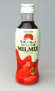 牛乳だけで簡単カクテル【サントリー】ミルミクス MILMIX 苺 200ml リキュール