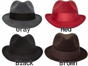 帽子 ハット メンズ帽子レディース 高級感抜群!中折れ ボルサリーノ風 マニッシュフェルト男女兼用