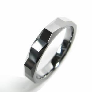 タングステン*Tungsten2面カットタングステンリング[硬質な輝き、レアメタル] 送料無料