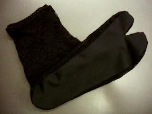 浴衣&着物に レース足袋黒