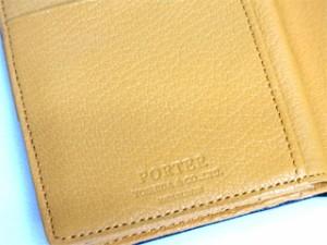 ポーター 吉田カバン DOUBLE ダブル ゴートレザー二つ折りウォレット 129-06012 ブラック×オレンジ 送料無料