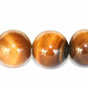 【メール便 送料無料】天然石 ブレスレット タイガーアイ 12mm玉【虎目石 12ミリ パワーストーン 数珠ブレスレット】虎眼石 ┃