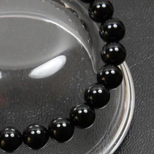 【メール便 送料無料】天然石ブレスレット オニキス 8mm玉【黒瑪瑙 8ミリ 数珠 ブラック オニキス】 ┃