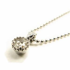 天然ダイヤモンド0.07ctローズカットダイヤプラチナコーティングネックレス鑑別カード付き 送料無料 クリスマス ギフト