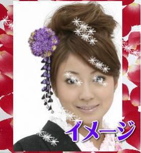 振袖&袴に♪舞妓風花珠ダラリ髪飾り(かんざし)紫