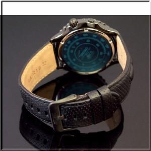 SEIKO/セイコー【キネテック 100M防水】メンズ腕時計 2重回転ベゼル ブラック文字盤 ブラックレザーベルト【送料無料】SKA425P1