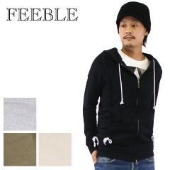 【セール特価 !】 フィーブル ダブルジップリフトスウェットパーカー ベージュ (FEEBLE)