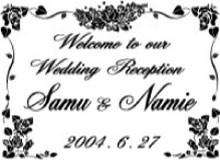 結婚式、披露宴にウェルカムボード6(パールピンク)(鏡、ミラー)