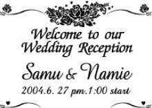 結婚式、披露宴にウェルカムボード6(パールブルー)(鏡、ミラー)