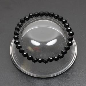 【メール便 送料無料】天然石 ブレスレット オニキス 6mm玉【パワーストーン 6ミリ数珠ブレス/黒瑪瑙/ブラック オニキス】 ┃