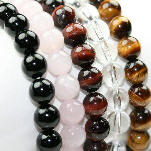 【メール便送料無料】天然石 ブレスレット 8mm玉 数珠ブレス【開運ブレス パワーストーン 8ミリ】ゲリライベント ┃