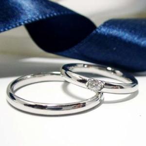 【ペアリング:結婚指輪】プラチナ Pt900 ダイヤモンドリング マリッジ:文字入れ無料/ケース無料/送料無料