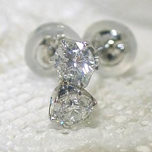 0.2ct一粒タイプのプラチナ900ダイヤモンドピアス お届け3週間