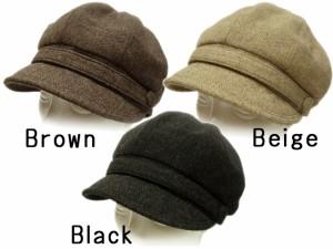 帽子 レディース 冬  帽子 キャスケット ハット ウール フロントベルト