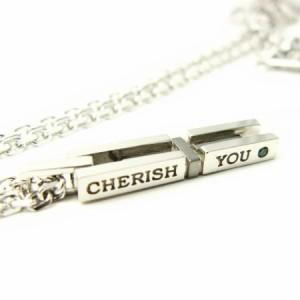 close to me*クロストゥーミー ブルーダイヤ 『CHERISH YOU』 バークロス ネックレス ブラック SN13-059 送料無料