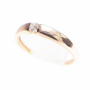 K18*ピンクゴールド天然ダイヤモンド0.05ctシンプルピンキーリング『ジュエリーケース付』 送料無料