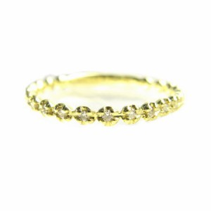 K18*ゴールド天然ダイヤモンド0.1ct21ピースエタニティゴージャスリング 送料無料