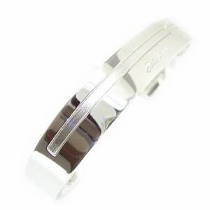 closetome*クロストゥーミーブルーダイヤワイドクロスシルバーバングルMSVA13-003 送料無料