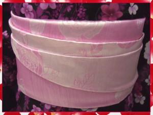浴衣ゆかたに♪簡単ふわっふわ兵児帯ピンク地薔薇