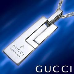 GUCCI グッチ ネックレス トレードマークGプレートペンダント 145170 J8400 8106 送料無料!
