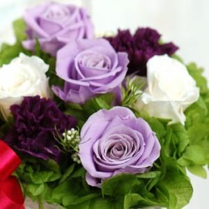プリザーブドフラワー 花 ギフト 薔薇 プレゼント 女性 誕生日 記念日 結婚 出産 開店 お祝い 贈り物 スクエア・エレガントパープル