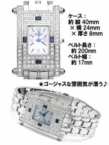 バレンチノロレンタ VALENTINO ROLENTA 腕時計 メンズウォッチ 天然サファイア スクウェアタイプ VR112-SM リストウォッチ