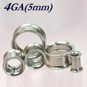 【メール便 送料無料】ダブルフレア インターナル 4GA(5mm) 簡単取付 ネジ式【ボディピアス/ボディーピアス/ステンレス】 ┃