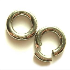 【メール便 送料無料】ボディピアス スムースセグメントリング 4GA(5mm)Smooth Segment Ring ボディーピアス ┃