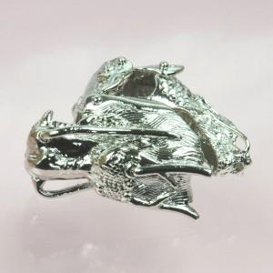 【メール便 送料無料】アーマーリング ドラゴン(龍)シルバーカラー アクセサリー ヘビメタ パンク メタルリング 『T』 RING-M00005 ┃