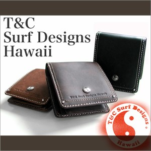 【Town & Country タウン&カントリー (T&C)】 サーフデザイン ウォレット 2つ折り財布 サーファーファッション