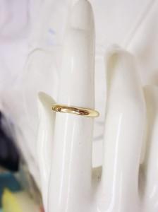 【男女兼用】K18ピンクゴールド2.5mm幅-2.3gリング 文字刻印無料 ケース無料 送料無料