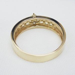 上品デザインK18ピンクゴールドダイヤリング